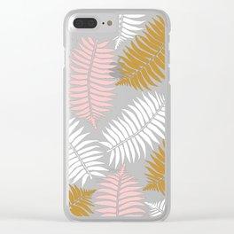 Rose Gold Leaf Clear iPhone Case