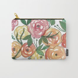 Peachy-est of Flowers Carry-All Pouch