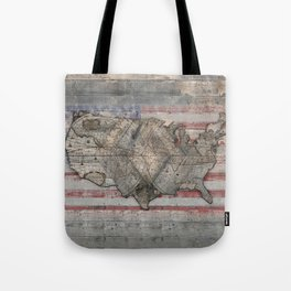 USA Map Forever Tote Bag