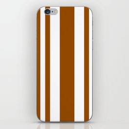 Mixed Vertical Stripes - White and Brown iPhone Skin