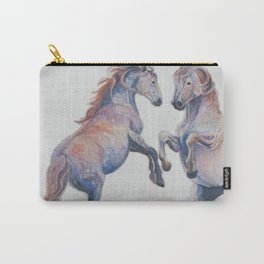 Fighting Stallions Wild Horse Carry-All Pouch