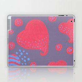 lollipop attacked by hearts Laptop & iPad Skin