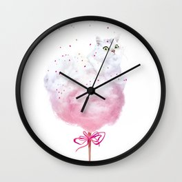 Cotton Candy Tail Wall Clock