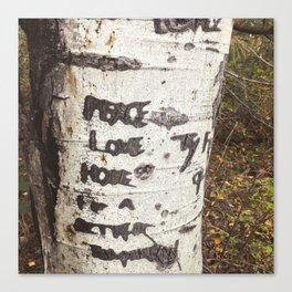 Peace, Love, Hope Canvas Print