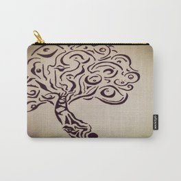 Ink Doodle Eyeball Tree Carry-All Pouch