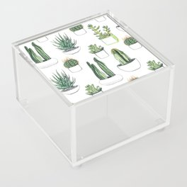 Watercolour Cacti & Succulents Acrylic Box
