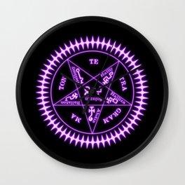 Sebastian Michaelis Sigil Light (black bg) Wall Clock
