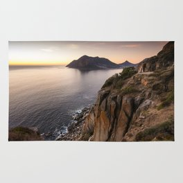 Sunset view from Chapman's Peak drive in Cape Town, South Africa Rug