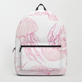 Pink jellyfish Backpack