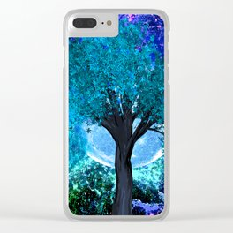 TREE MOON NEBULA DREAM Clear iPhone Case