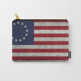 USA Betsy Ross flag - Vintage Retro Style Carry-All Pouch