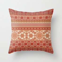 Ornate Moroccan in Red Throw Pillow