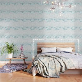 London White on Turquoise Street Map Wallpaper