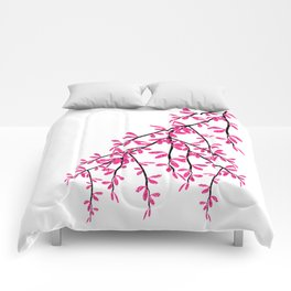 Pink Tree Branch Comforters