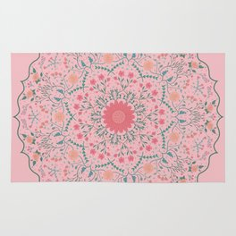 Flower Rounds Mandala Rug