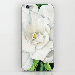 Watercolor Gardenia iPhone Skin
