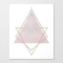 BLUSH COPPER ROSE GOLD GEOMETRIC SYNDROME Canvas Print