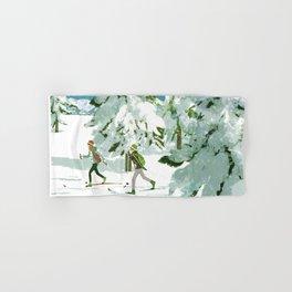 Cross Country Skiing Hand & Bath Towel
