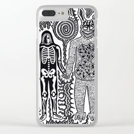I was in a skeleton suit holding your hand... then I woke up / In honour of Donnie Darko Clear iPhone Case