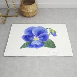 Purple Pansy by Teresa Thompson Rug