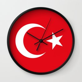 National flag of Turkey, Authentic color & scale Wall Clock