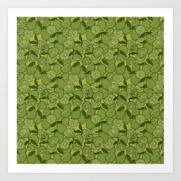 Lime Greenery Art Print