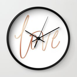Your Love is Gold Wall Clock