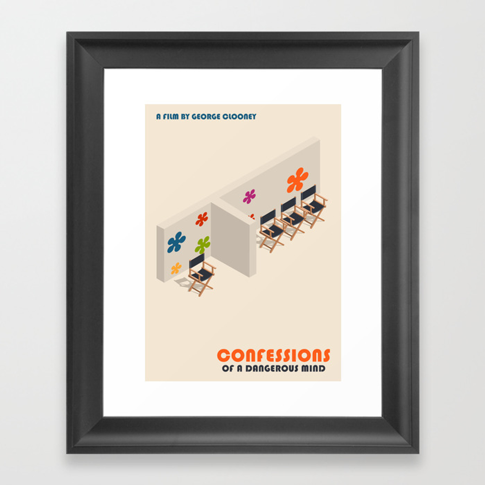 Confessions Of A Dangerous Mind Minimalist Poster … Framed Art Print by Popate FRM9088179