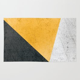 Modern Yellow & Black Geometric Rug