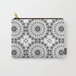 Black-and-white kaleidoscope . Carry-All Pouch