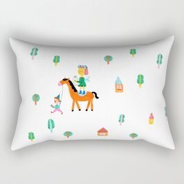 Colorful Cheerful Forest Rectangular Pillow