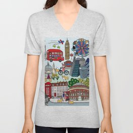 Queen's London Day Out Unisex V-Neck