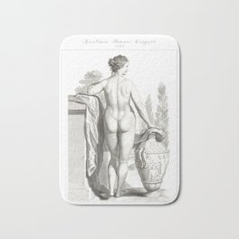 Human Anatomy Art Print WOMEN BODY BACK Vintage Anatomy, doctor medical art, Antique Book Plate, Med Bath Mat