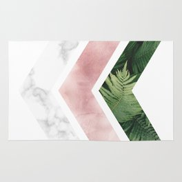 Tropical and Marble - Chevron Rug