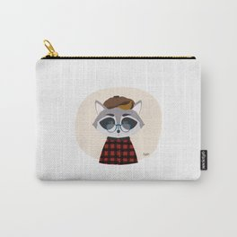 Hipster Raccoon Carry-All Pouch