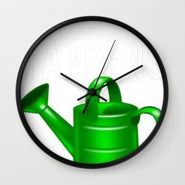 Compost Happens Gardening Wall Clock