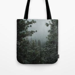 Backwoods Winter: Ponderosa Pines, Washington Tote Bag
