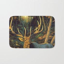 Bull Elk in Autumn Bath Mat