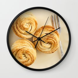 Fresh baked cruffins Wall Clock