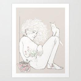 smol fool Art Print