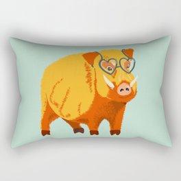Benevolent Boar Rectangular Pillow