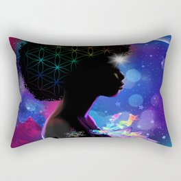 Cosmic Goddess Heart Chakra Rectangular Pillow