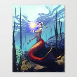 Mermaid Chun Li Canvas Print