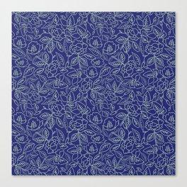 Floral Tinny Tin Tin Canvas Print