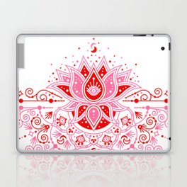 Lotus Blossom Mandala – Red & Pink Palette Laptop & iPad Skin