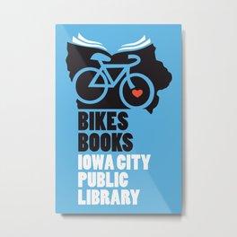 Bikes Books Iowa City Public Library Metal Print