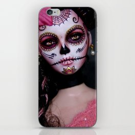 Mexican Hibiscus Day of the Dead Skull iPhone Skin