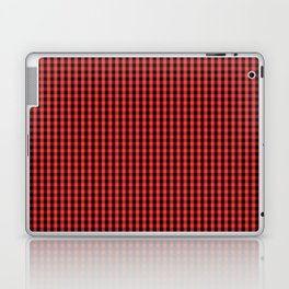 Small Black and Donated Kidney Pink Halloween Gingham Check Laptop & iPad Skin