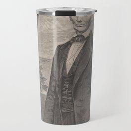 Vintage Abraham Lincoln Illustrative Portrait (1860) Travel Mug