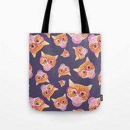 Bubblegum Cat Tote Bag